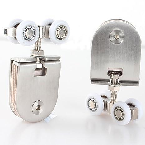 Rueda de Puerta Corredera armario ruedas de nailon para colgar piezas de rueda puerta rodillos puerta