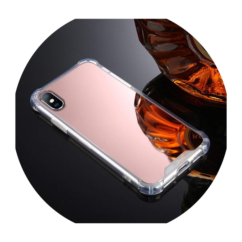 Amazon.com: Carcasa de lujo con espejo para iPhone 7, 8, 6 y ...
