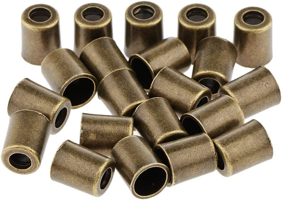 Bronze IPOTCH Lot de 60 Bouchons de Cloche M/étal Cloche Cordon Cordon Fin Corde Stopper Corde Verrouiller