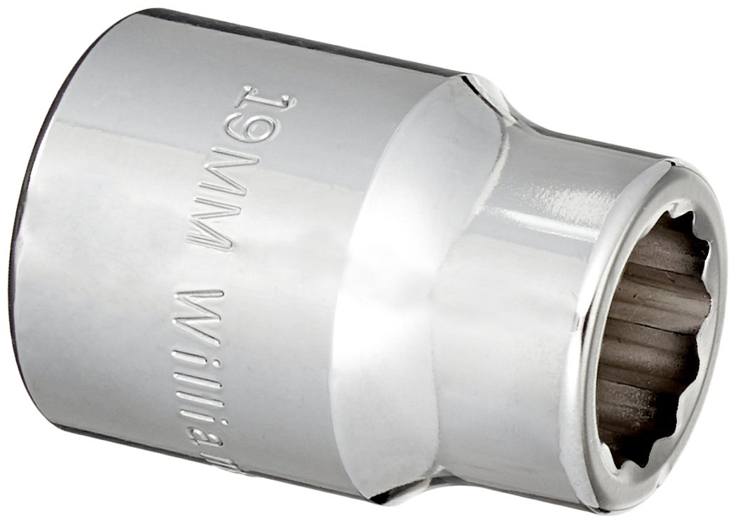 Williams HM-1219  3//4 Drive Shallow Socket 12 Point 19mm JH Williams Tool Group