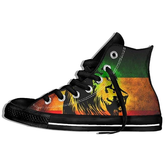 Amazon.com: Reggae Rasta León de alta parte superior Classic ...