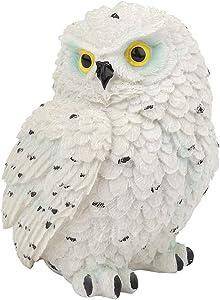 Mootea Resin Simulated Owl-Shaped Garden Statue Outdoor Sculpture Lawn Garden Scene Decor Ornament