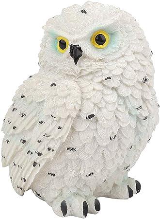 Ornamento de búho de resina Pájaros de jardín en forma de búho simulado Escultura Escena de césped Decoración Interior Simulación al aire libre Decoración Jardinería Paisaje Blanco (Mochuelo pequeño): Amazon.es: Hogar