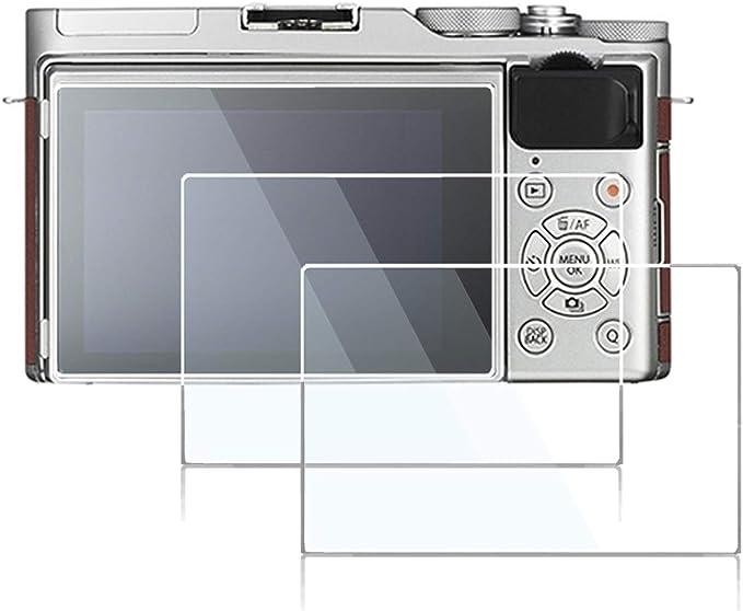 2 Pack Fujifilm X-T1 X-T2 Camera Screen Protector 9H Hardness Anti-Scratch Anti-Fingerprint Tempered Glass for Fujifilm X-T1 X-T2