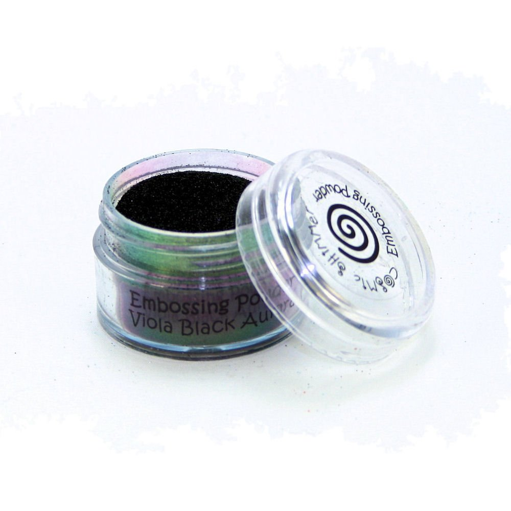 Cosmic Shimmer Aurora Embossing Powder Enamel Based, Viola Black/Clear Creative Expressions CSEPVIOBLK