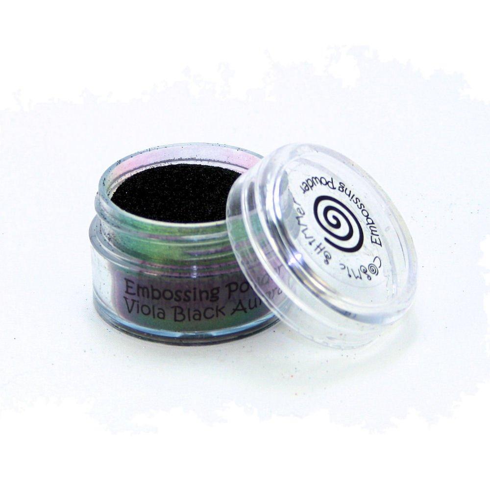Cosmic Shimmer Aurora Iridescent Embossing Powder 20ml - Viola Black