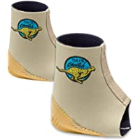 Tuli's Cheetah Heel Cup with Compression Ankle Support Sleeve, Foot Protection for Gymnasts and Dancers, Lightweight, Fitted Small (Pair)