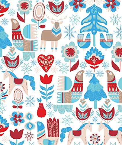 Nordic Winter Holiday Gift Wrapping Paper Roll - 24