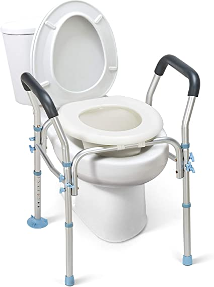 Amazon.com: OasisSpace Stand Alone Raised Toilet Seat 300lbs