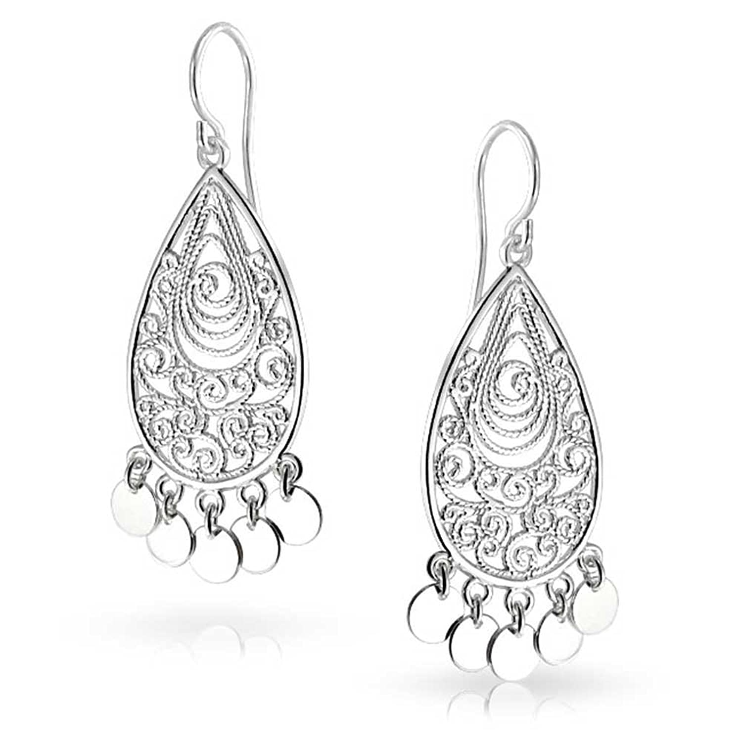 Amazon.com: Bling Jewelry Bohemian Filigree Chandelier Sterling ...