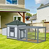PawHut 77x29x39Inch Deluxe Large Chicken Coop Garden Hen House Backyard Small Animal Pet