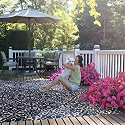 Garden and Outdoor Gertmenian 21571 Outdoor Rug Freedom Collection Nautical Themed Smart Care Deck Patio Carpet 8×10 Large, Floral… outdoor rugs