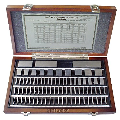 HHIP 4101-0052 81 Piece Square Gage Block Set, AS-2 Grade, Steel by HHIP
