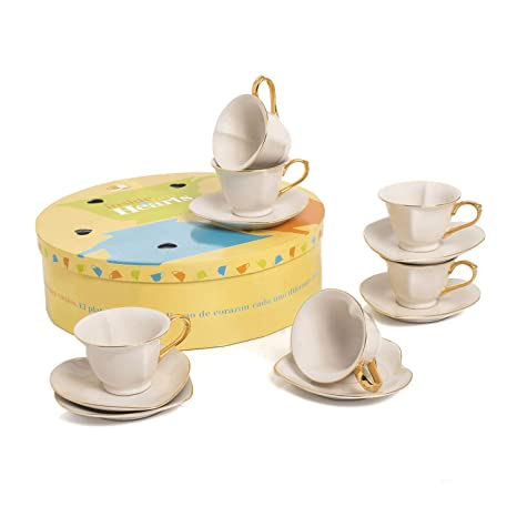 Amazoncom Tea And Coffee Cups With Saucers Set Of 6 By Classic