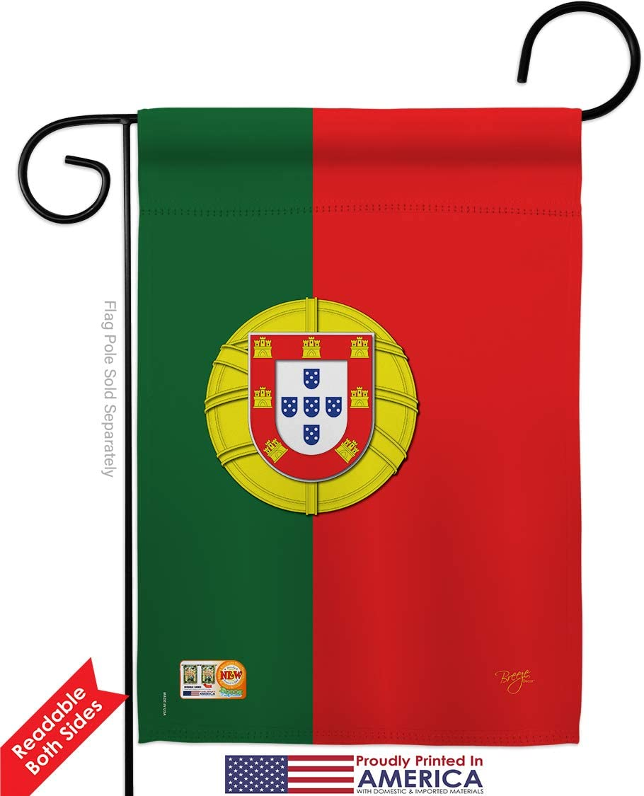Amazon Com Breeze Decor G158118 Portugal Flags Of The World Nationality Impressions Decorative Vertical Garden Flag 13 X 18 5 Printed In Usa Multi Color Garden Outdoor