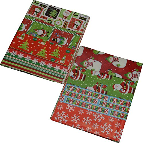 flat christmas wrapping paper