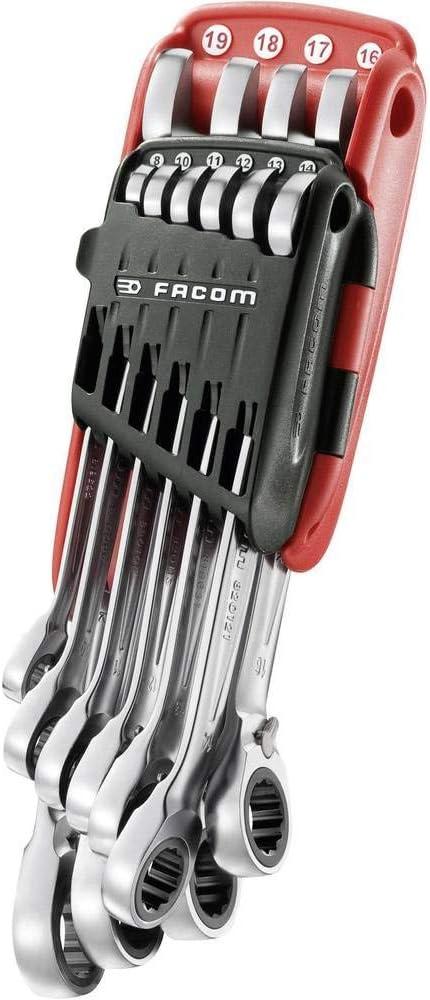 Set 10-teilig Facom 467B.JP10 Knarren-Ring-Maulschluessel