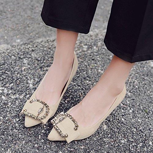 boda tacones agua 34 beige adecuarlo el de de zapatos vía zapatos zapatos de fin altos Fina novia perforación con con punta chica de al gato negro de tqwtx18O4