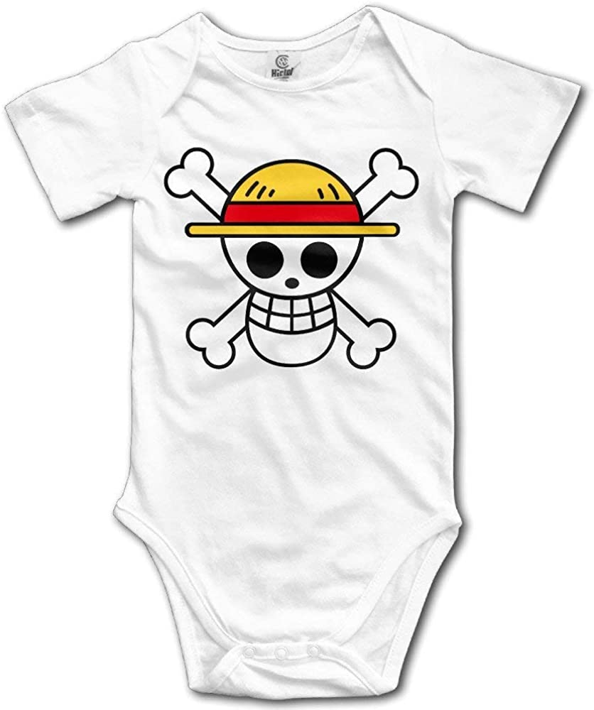 Bright color Newborn Clothes One Piece Skull Luffy Logo Cute Baby Bodysuit Onesies