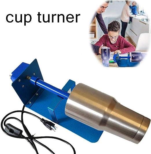 Elektrische Cuptisserie Cup Spinner Drehmaschine mit Silent Balance Lenkschaft und Sicherheitsschalter f/ür Epoxid-Glitzer-Trinkbecher HUKOER Tassenwender zum Basteln Bechern