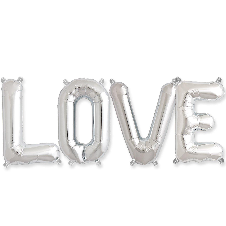 Hortense B. Hewitt Love Balloon Kit, 16'', Silver
