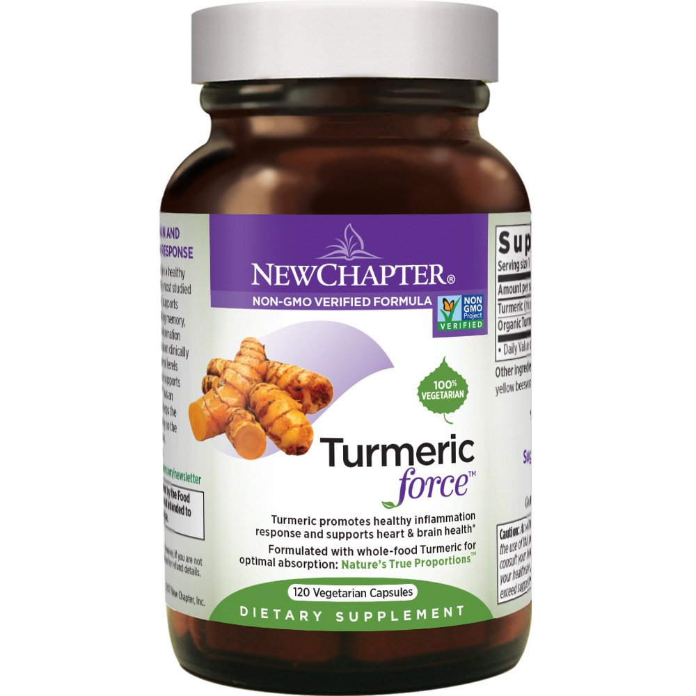 Organic Turmeric, New Chapter Turmeric Curcumin Supplement One Daily – Inflammation Support Supercritical Organic Turmeric Black Pepper Not Needed Non-gmo – 120 Veg Capsule 4 Month Supply