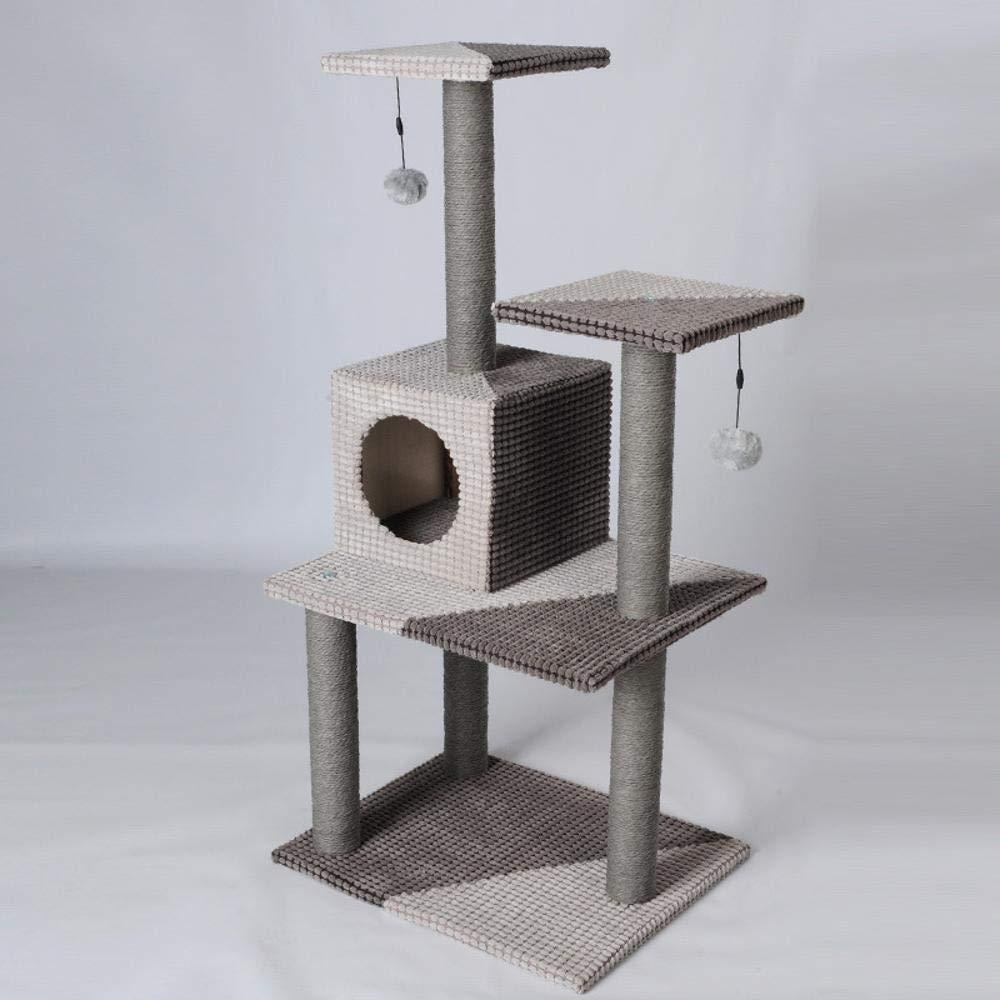 Hexiansheng Cat Climb Trees Large and medium-sized Cat Scratch column toy pet cat Nest Platform Board 51  41  106cm