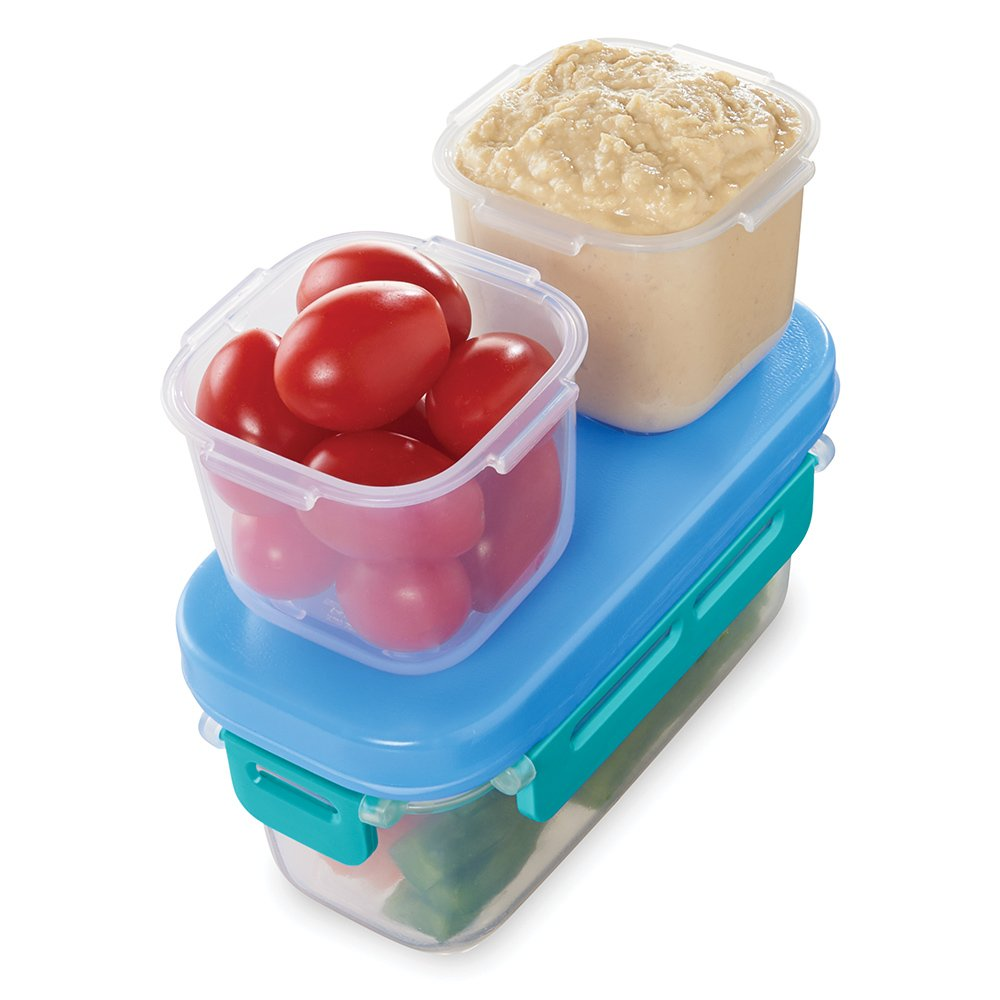 Rubbermaid LunchBlox Leak-Proof Snack Pack Lunch Containers, Blue 2000669