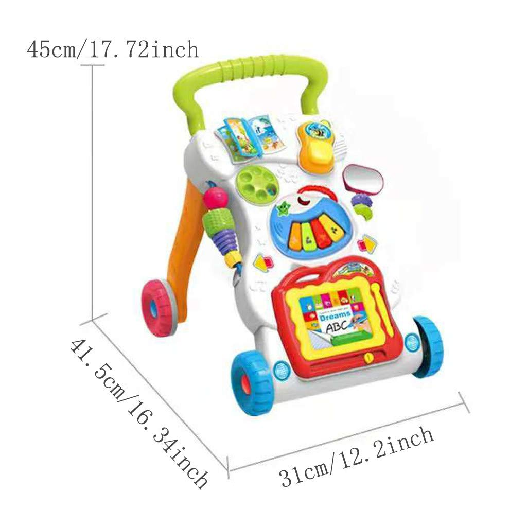 Baby Sit-to-Stand Learning Walker, First Steps Baby Activity Walker, Toddlers Musical Fun Table, Learning, Birthday Gift for Infants, Boys, Girls by Ljnuanrg toys & games (Image #5)