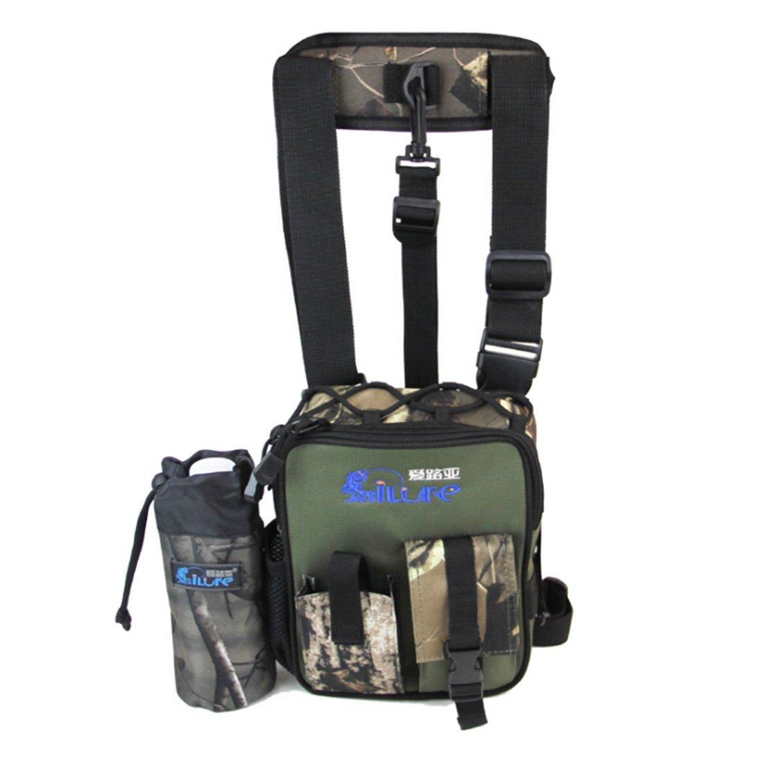 Al aire libre Multi Función bolsa de pesca bolsa de cintura Pierna Bolsa impermeable bolsa de aparejos de pesca, Negro Ilure