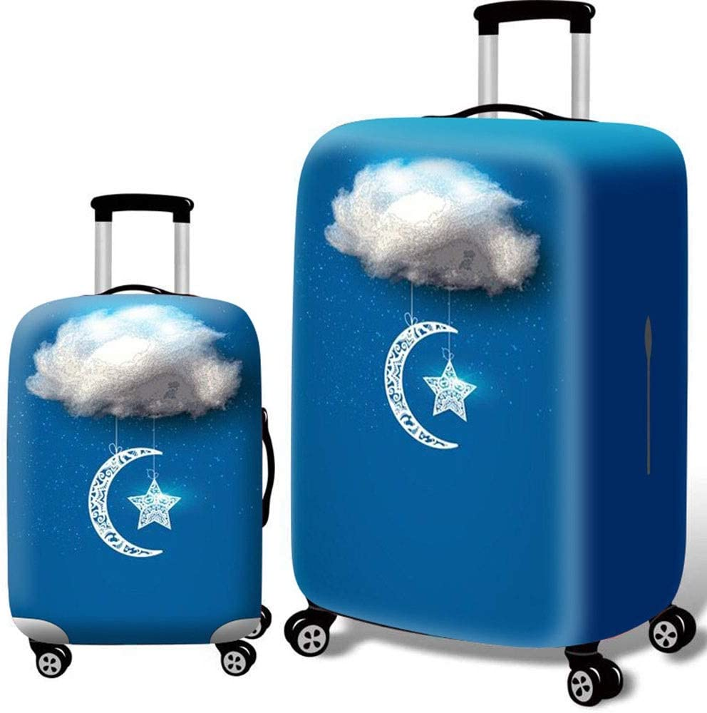 Color : Cloud, Size : S Yuybei-Bag Luggage Cover 18-32 Inch Washable 3D Print Luggage Cover Travel Luggage Cover Suitcase Protector Travel Luggage Sleeve Protector 18-21