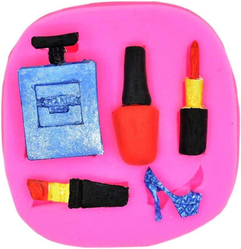 Make-up, Dress Up, Nail polish, Lipstick and High Heels, Perfume, Decorating Silicone Mold - Custom Mold Cupcake Fondant Mold