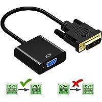 Friencity DVI a VGA Activa el convertidor del Adaptador, Macho a Hembra M/F DVI-D 24 + 1 Enlace al vídeo VGA Cable Adaptador soporta 1080P para la PC DVD Monitor de Pantalla HDTV 1PCS (VGA-1PCS)