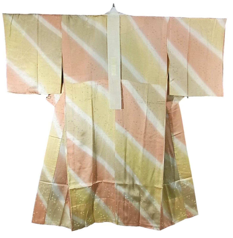リサイクル 着物  襦袢 袖無双 染め分け 正絹 裄61cm 身丈123cm B07DQH2DTB  -