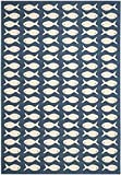 Cheap Safavieh Courtyard Collection CY6013-268 Navy and Beige Indoor/Outdoor Area Rug (4′ x 5'7″)