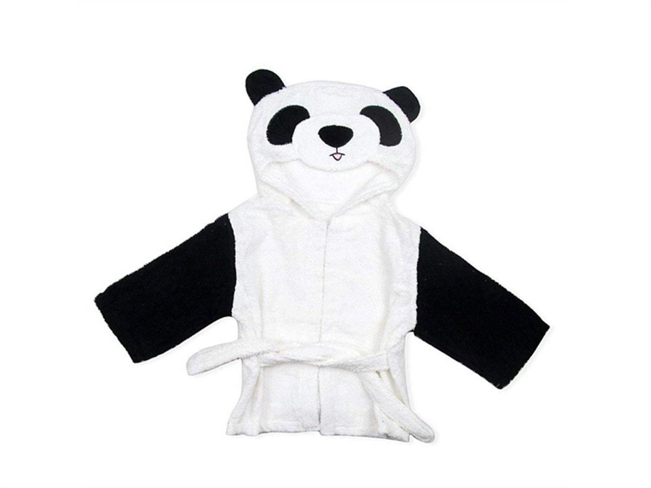 FERFERFERWON Suministros de baño Toalla de baño de bebé Toalla de baño de Dibujos Animados Panda para niños Toalla de baño súper Suave de recién Nacido con ...