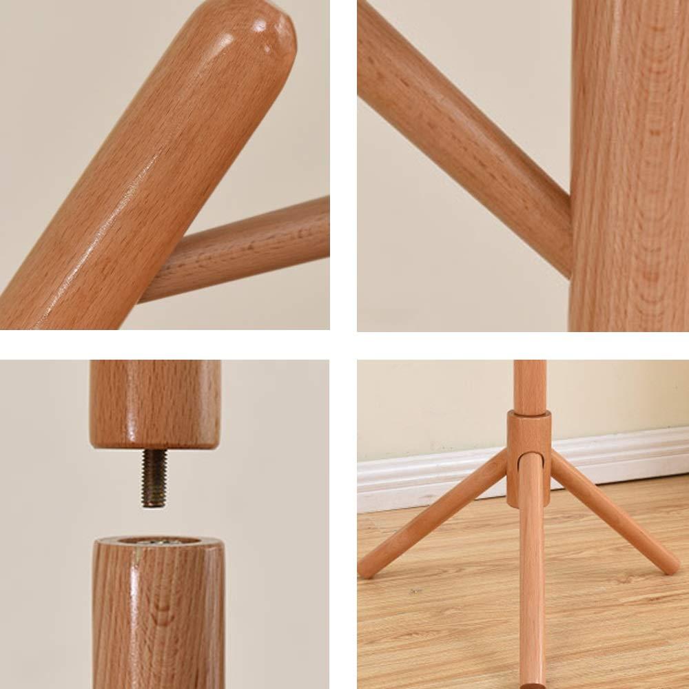 Amazon.com: LJHA - Perchero de madera maciza con soporte ...
