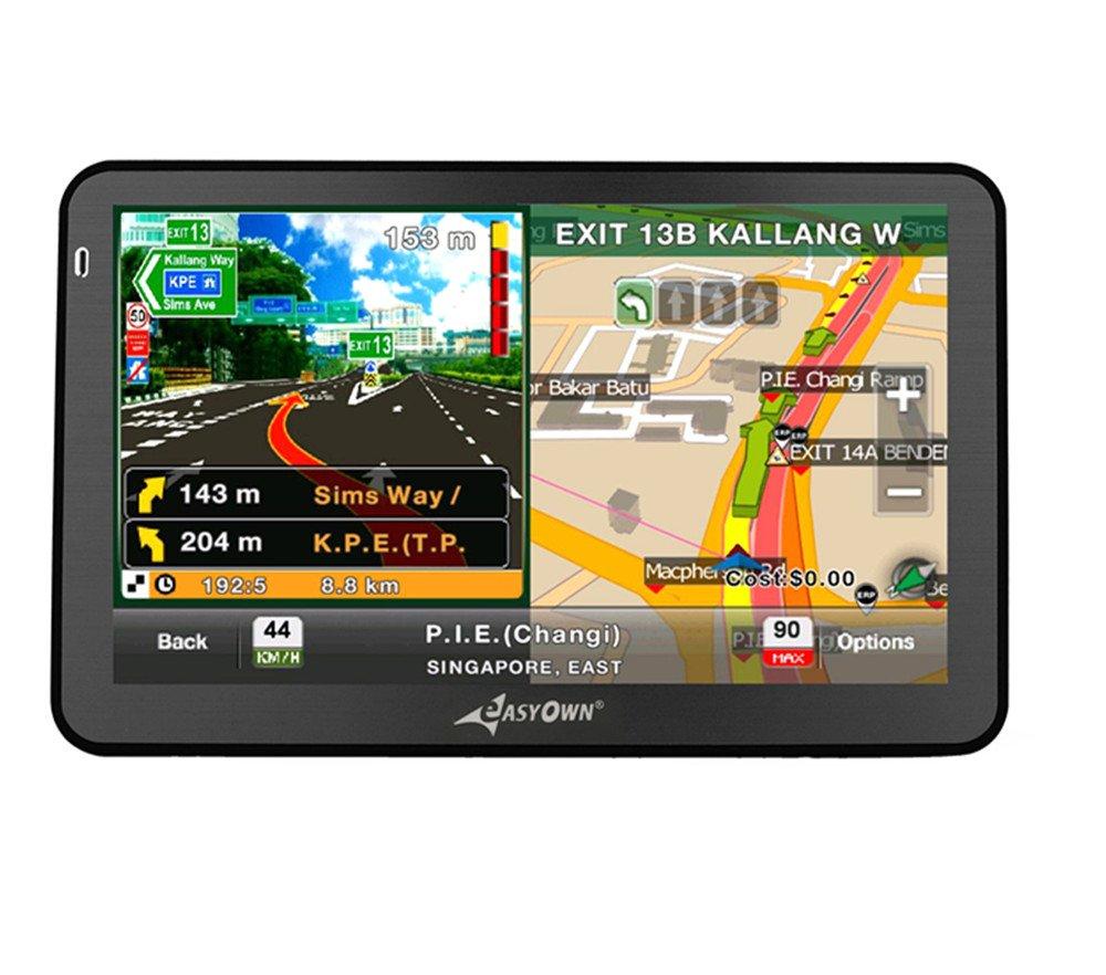 amazon com easyown 7050 7 inch car gps windows ce 6 0 4gb hd screen