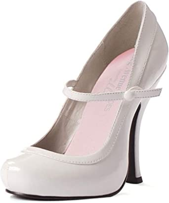 White Patent Sexy Mary Jane Shoes