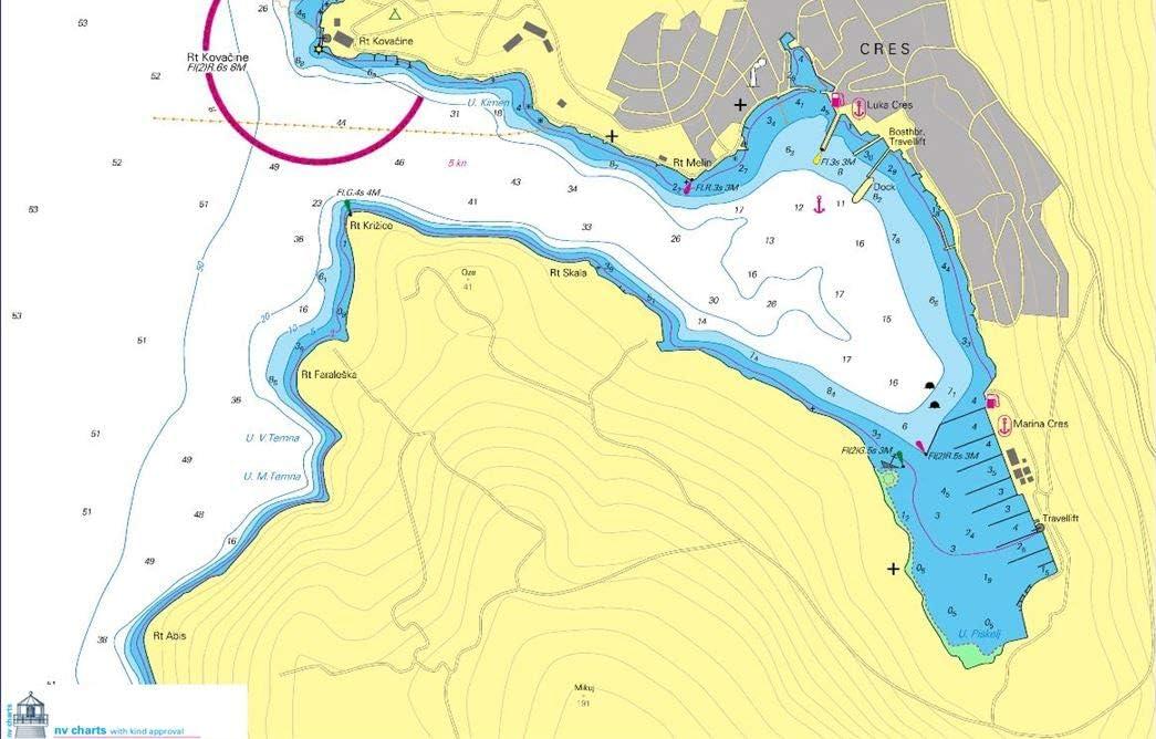 NV-CHARTS - Cartas náuticas mediterráneo. Kit HR 1. NV Atlas Croatia - Trieste to Vodice