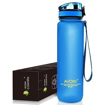 AVOIN colorlife 500ml&1000ml Botella Deportiva de Agua (Muchas Opciones de Color), Flujo Rápido. Pasa ...