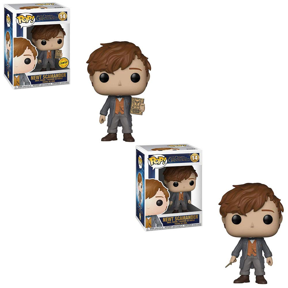 Wizarding World Fantastic Beasts The Crimes of Grindelwald Funko POP Newt Scamander Limited Edition Chase and Newt Scamander Non Chase Toy Action Figures 2 POP Bundle
