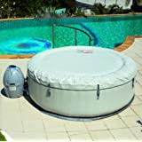 "77""x26""/196x66cm Palm Springs Inflatable SPA Set Large Round Thick Inflatable Family Swimming Pool for 4-6"