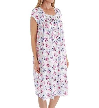Eileen West Women s Plus Size Hydrangea Waltz Nightgown at Amazon ... 2685294af