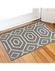 Indoor Doormat, Non-Slip Entrance Mat Low-Profile Floor Mat, Machine Washable Inside Floor Door Mat for Entryway Front Porch Back Door(Grey, 20*32 inch)