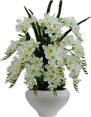 Vogelkäfig aus Metall mit künstlichen Blumen und 100 LEDs beleuchtet Hängekorb