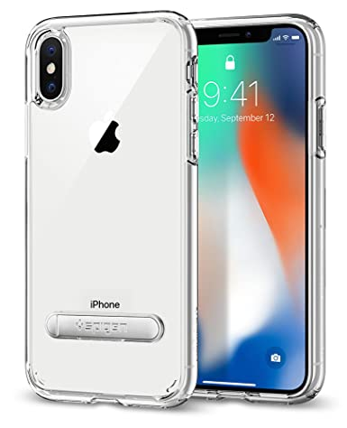 half off da673 eaf93 Spigen Ultra Hybrid S with Air Cushion Technology and Magnetic Metal  Kickstand Designed for Apple iPhone Xs (2018) / Designed for Apple iPhone X  Case ...