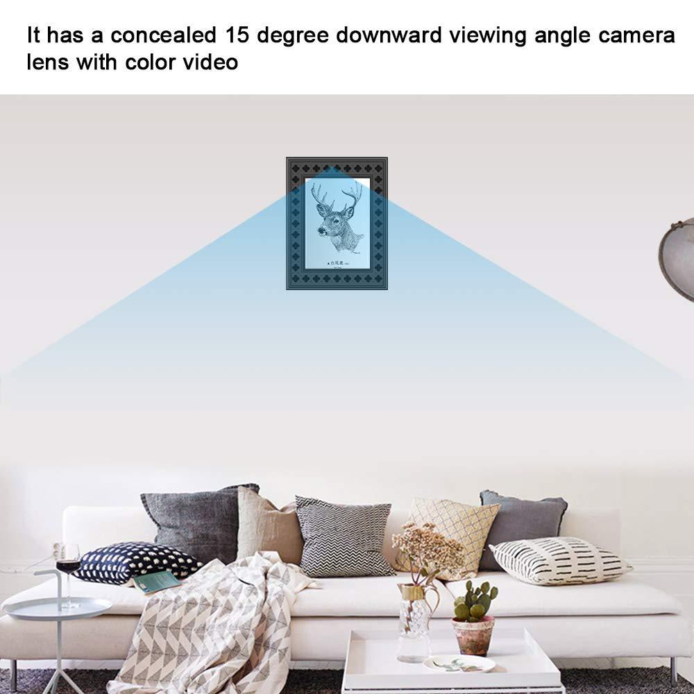 Amazon.com: Cámara oculta WiFi marco de fotos 720P HD cámara ...