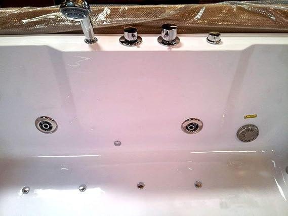 2 Dos Personas interior Whirlpool Masaje Hidroterapia Blanco Bañera Bañera Incluye control remoto y calentador de agua: Amazon.es: Bricolaje y herramientas