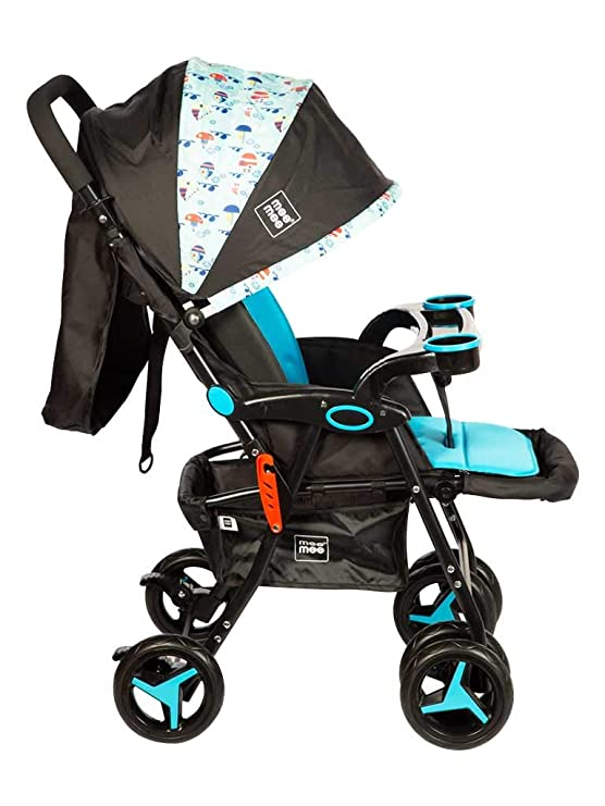 Comfortable Pram with 3 Seating Position (Blue)